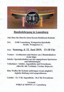 Bundeslehrgang in Lauenburg 2019 @ Weingarten-Sporthalle | Lauenburg/Elbe | Schleswig-Holstein | Deutschland